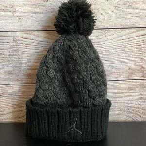 Youth Nike Jumpman Winter Hat with Pompon